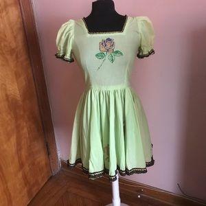 Vintage Dresses - 2️⃣for3️⃣0️⃣ Vtg green fit and flare dancer dress